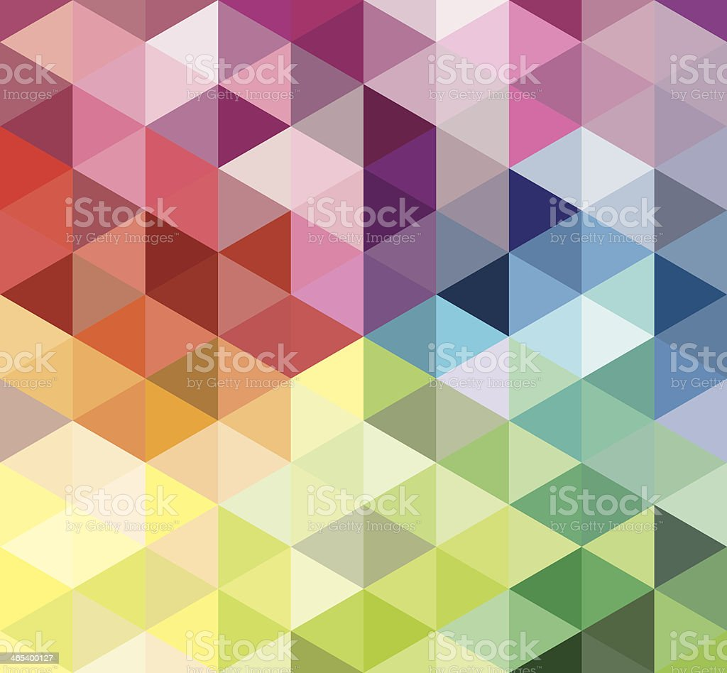 Colorful Triangle Background vector art illustration