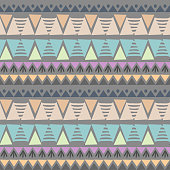 Colorful triangle chevron ikat tribal aztec pastel colors seamless pattern vector illustration ready for fashion textile print.