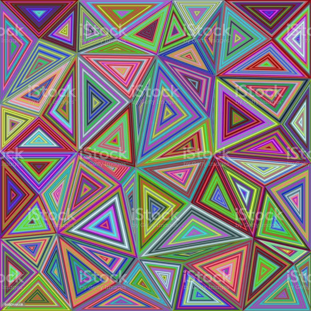 bunte dreieck mosaik fliesen hintergrunddesign stock vektor art und