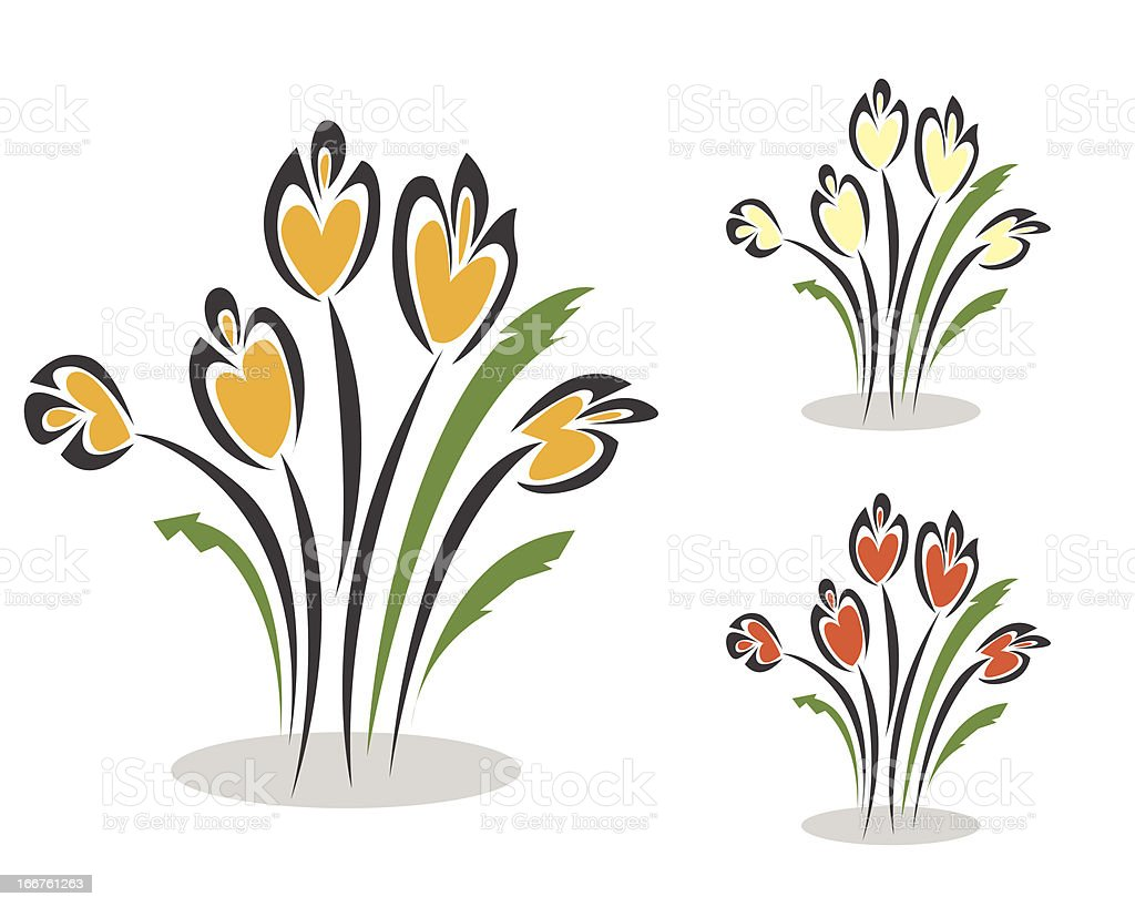 colorful tulips royalty-free stock vector art