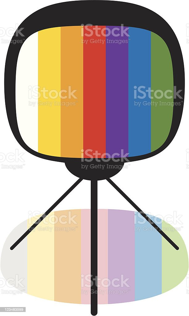 Colorful TV and Shade royalty-free stock vector art
