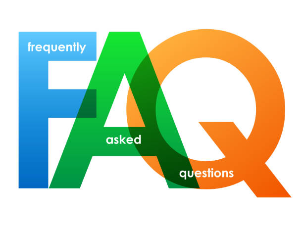 FAQ colorful typography banner FAQ colorful vector concept word typography banner faq stock illustrations