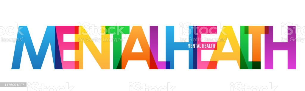 Mental Health Colorful Typography Banner Stock Illustration Download Image Now Istock