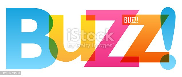 BUZZ! colorful vector typography banner