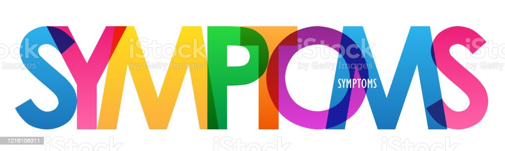 Symptoms Colorful Typography Banner Stock Illustration Download Image Now Istock