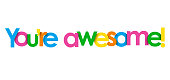istock YOU'RE AWESOME! colorful typography banner 1266449818
