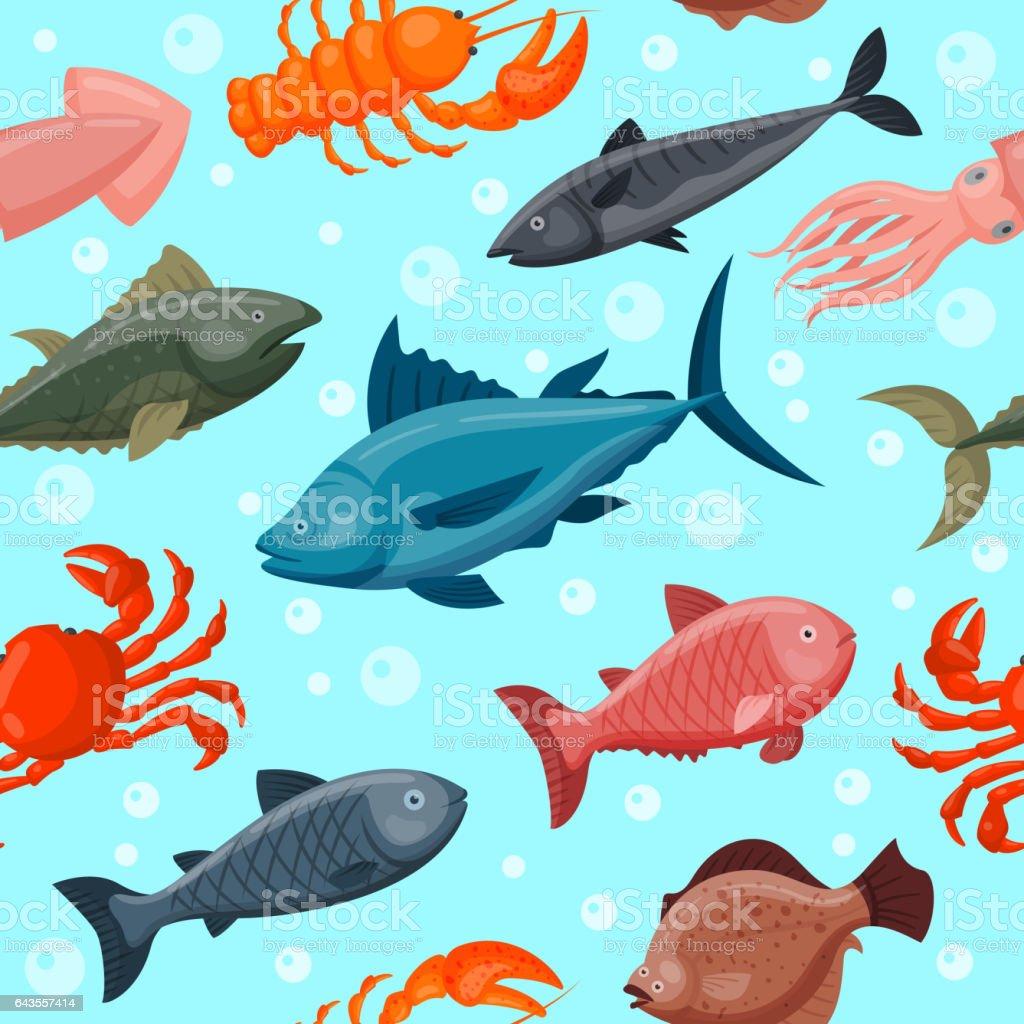 水世界動物の下のカラフルな壁紙で魚やタコタツノオトシゴ ヒトデ海自然