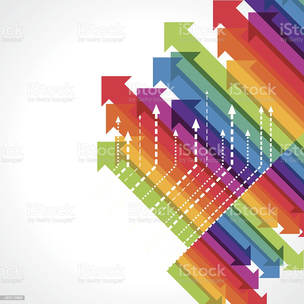 colorful upward arrows royalty-free stock vector art