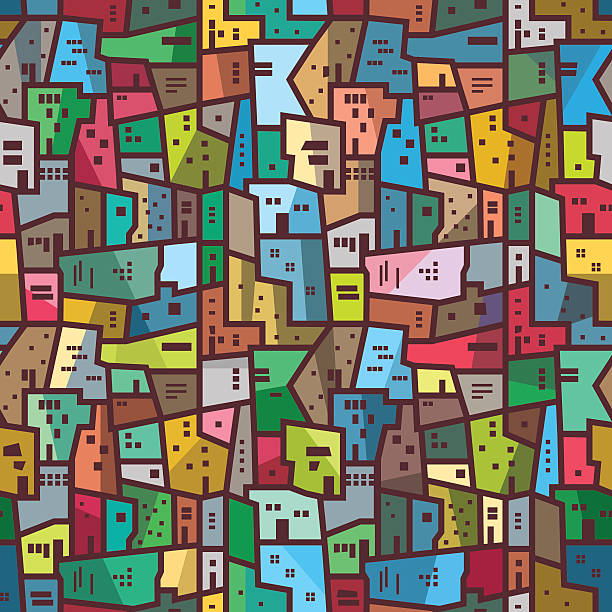 colorful urban abstract pattern seamless bright texture - urban fashion stock illustrations, clip art, cartoons, & icons