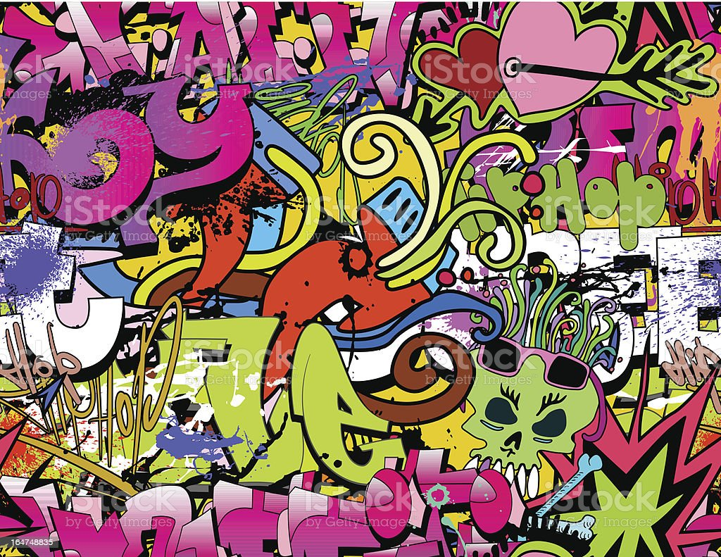 Fondo de arte urbano Graffiti - ilustración de arte vectorial