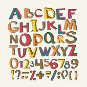 Colorful vector alphabet.
