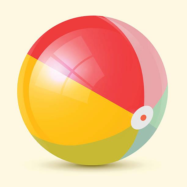 ilustrações de stock, clip art, desenhos animados e ícones de colorido ilustração vetorial de bola de praia - brinquedos na piscina