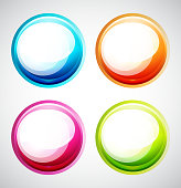 Colorful glossy round shapes.