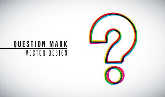Colorful vector design concept. Question Mark