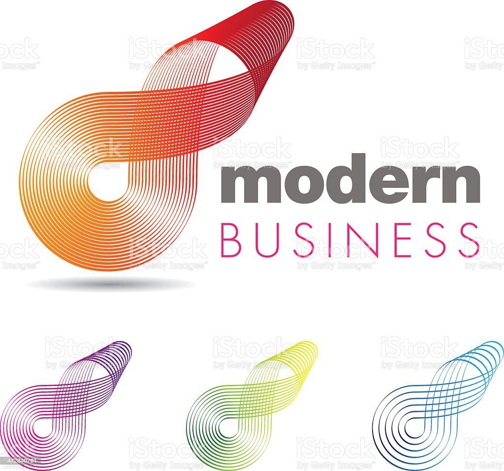 Colorful vector design titled Modern Business vector art illustration