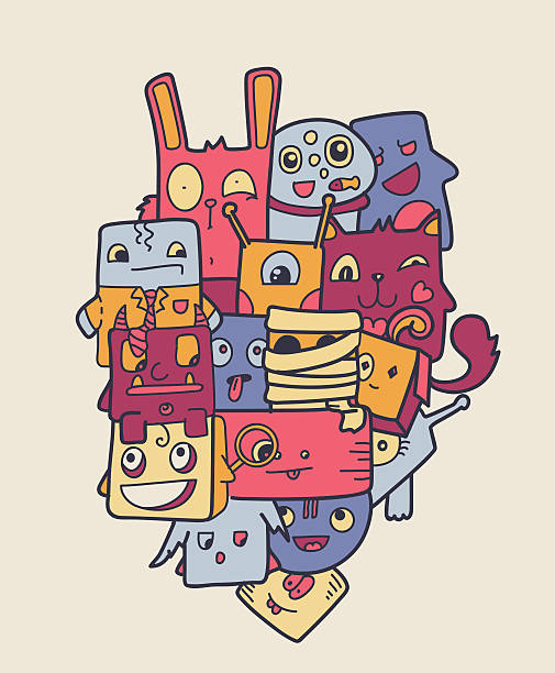 stockillustraties, clipart, cartoons en iconen met colorful vector doodles - baby dirty