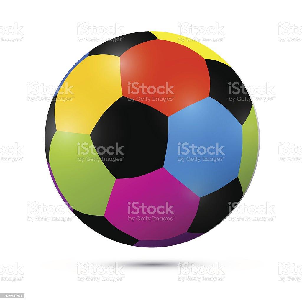 Coloridas vetor ilustração de bola de futebol - ilustração de arte em vetor