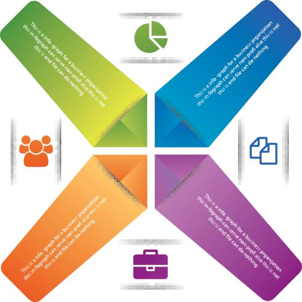 Colorful vector info graph for your digital presentation vector art illustration