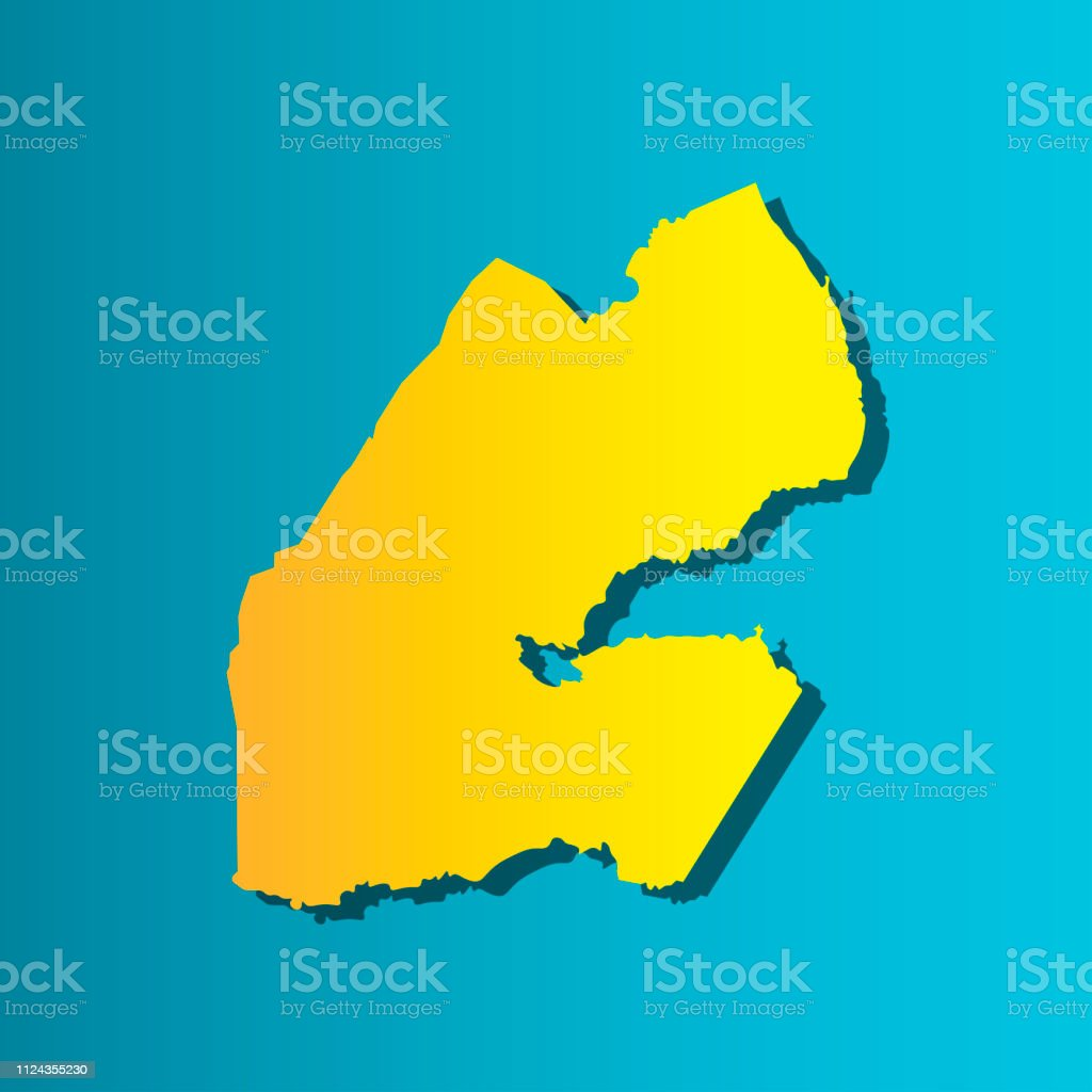 Colorful Vector Isolated Illustration Icon Of Political Map African ...