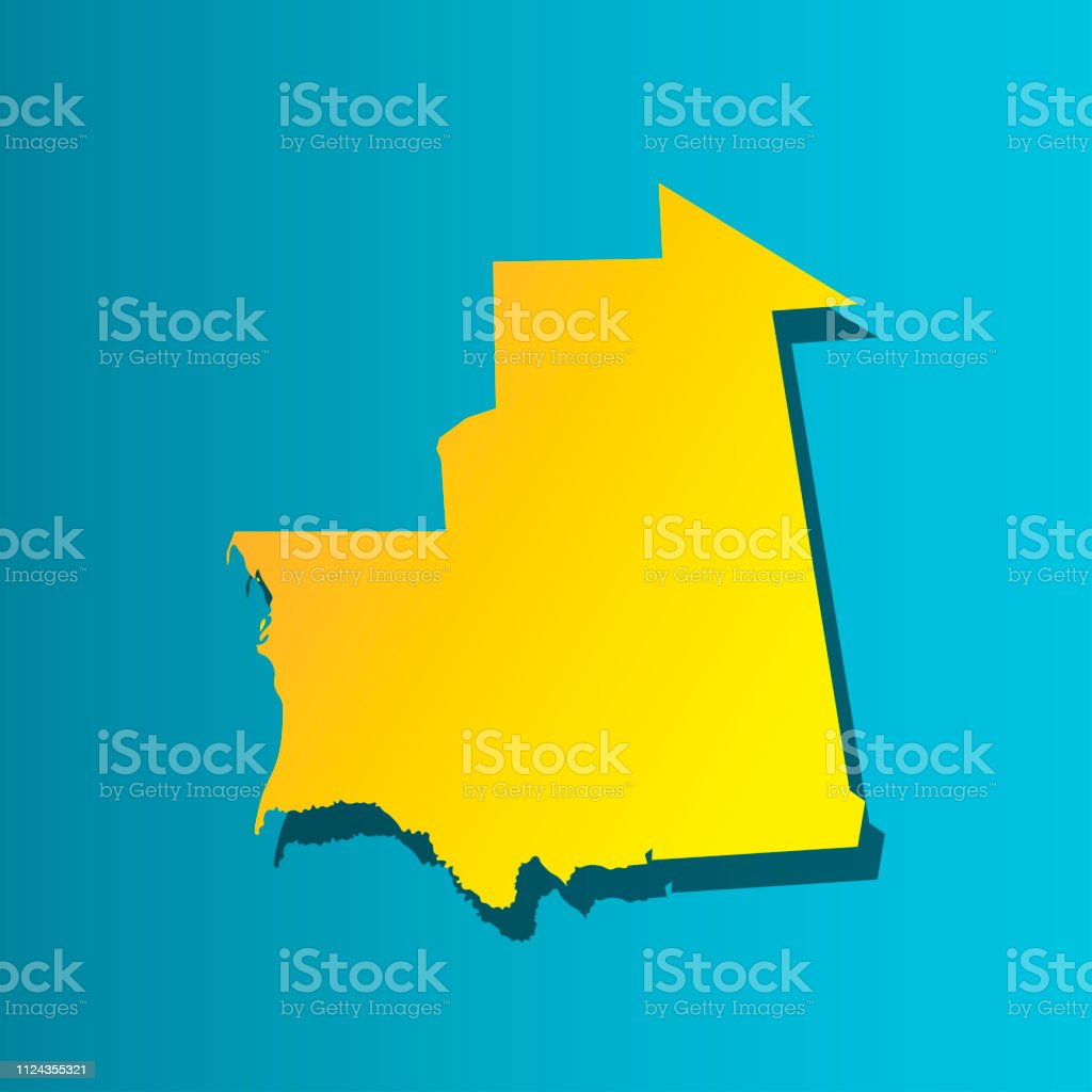 Colorful vector isolated illustration icon of political map African...