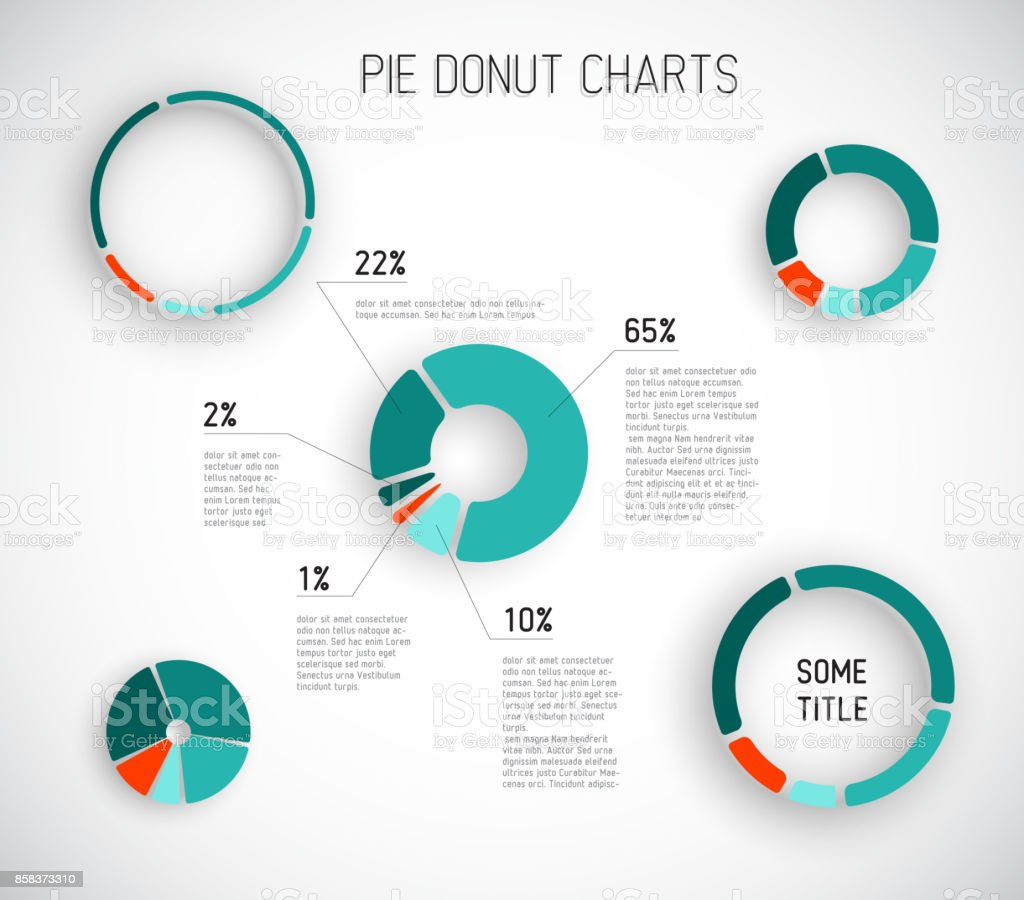 Colorful Vector pie chart templates vector art illustration