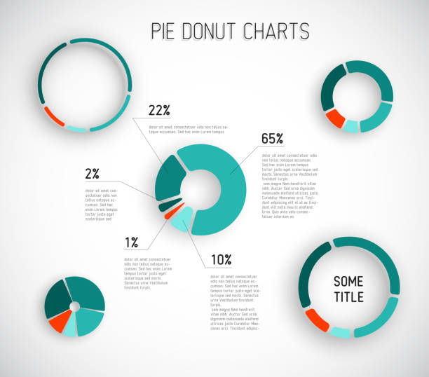 colorful vector pie chart templates - pie chart stock illustrations, clip art, cartoons, & icons