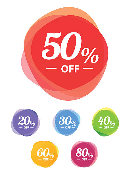 Colorful vector sale tags. Best price​​vectorkunst illustratie