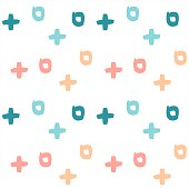 colorful vector seamless pattern background illustration with abstract brush strokes