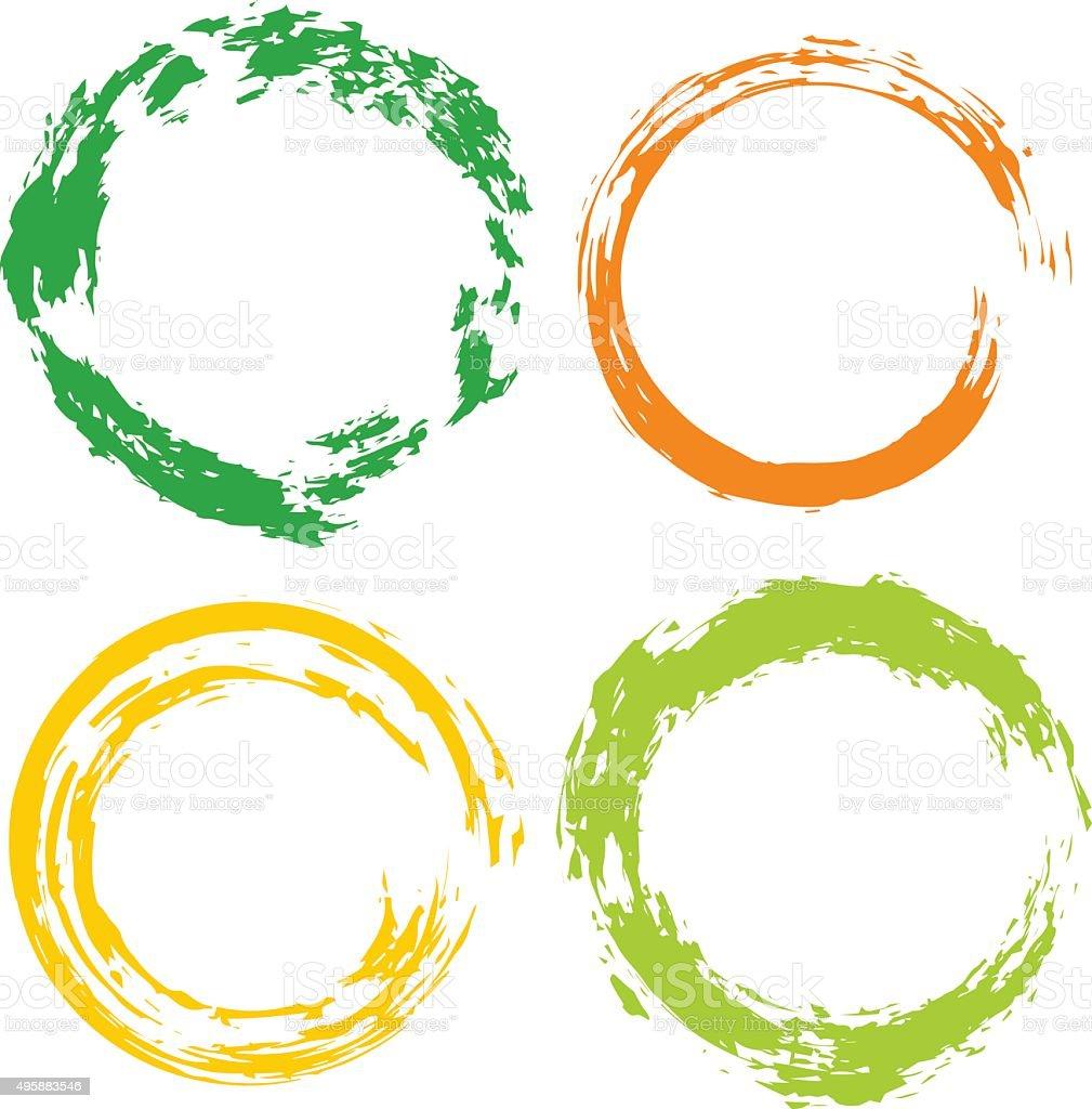 Ilustración de Conjunto De Vector De Colorido Arco Iris Con Un ...