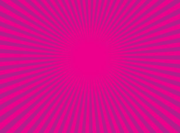 bildbanksillustrationer, clip art samt tecknat material och ikoner med färgglada vector sunburst - pink sunrise
