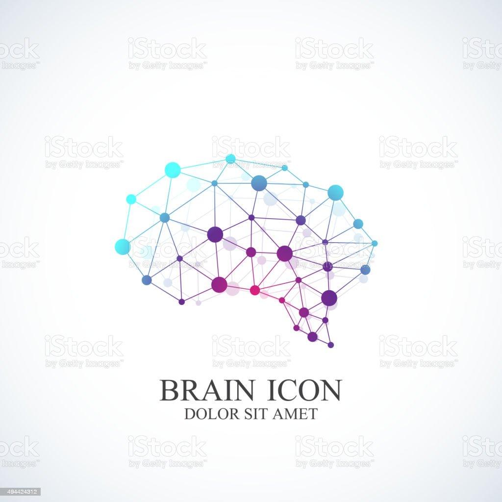 Colorful Vector Template Brain icon. Creative concept design vector art illustration