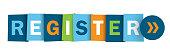REGISTER colorful vector web button