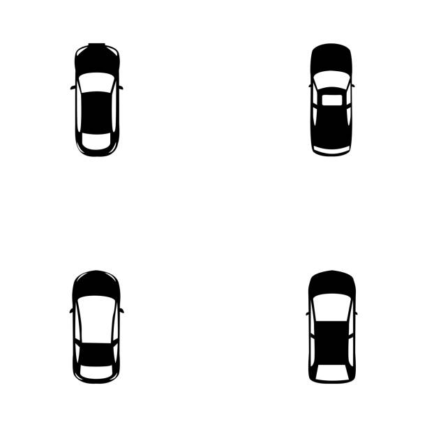 Colorful Vehicles with Top View Glyph Icons This technical pack of colorful vehicles with top view glyph icons  is representing top view of colorful cars either luxury or mini such as sedan, suv, police car, minivan, wagon and so on. An admirable set will provide you with the best visuals regarding vehicles and best car models  as well as to design your related projects in a better way. touring car stock illustrations