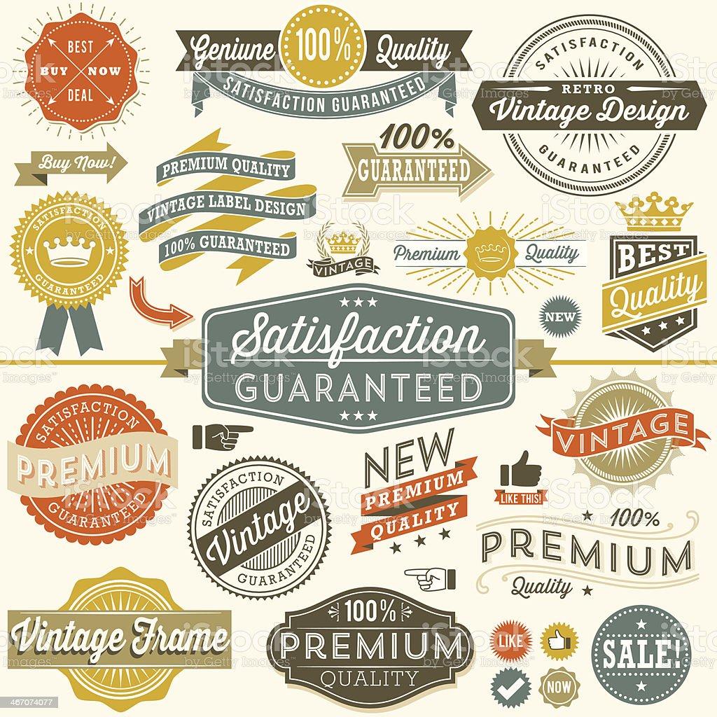 Colorful Vintage Copyspace Design Elements royalty-free stock vector art