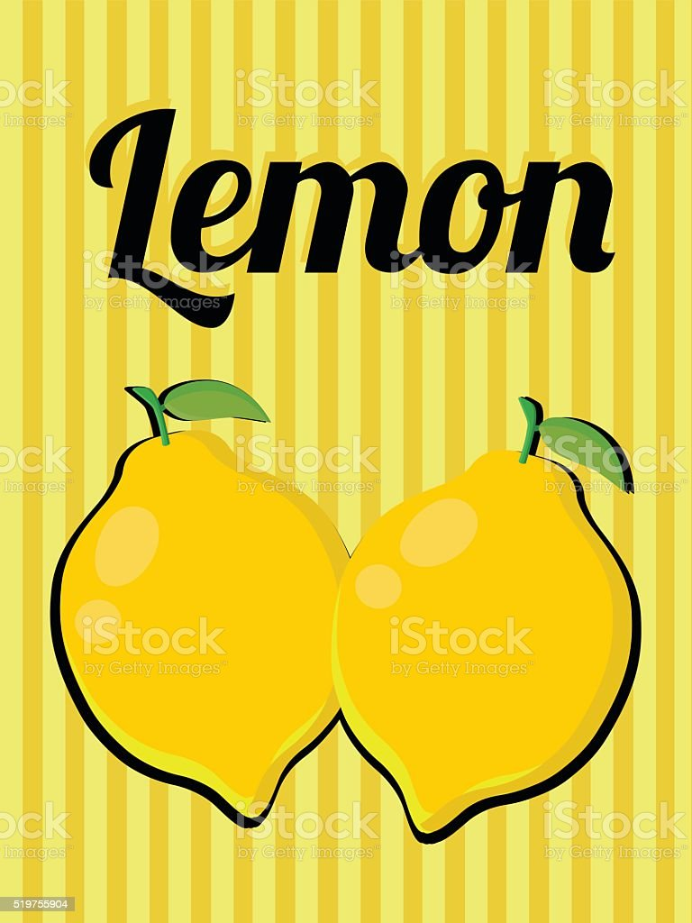 colorful vintage lemonade label poster vector illustration isolated