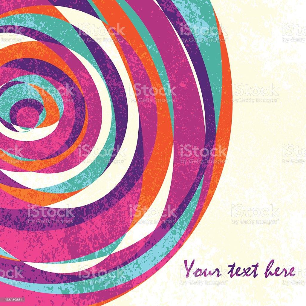 Colorful vintage vector background vector art illustration