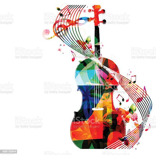 Colorful violoncello with music notes vector id499155644?b=1&k=6&m=499155644&s=612x612&h=fno53wsjbto2n4 pie4l4yaq5jluhk1rwtsaa4fysbw=