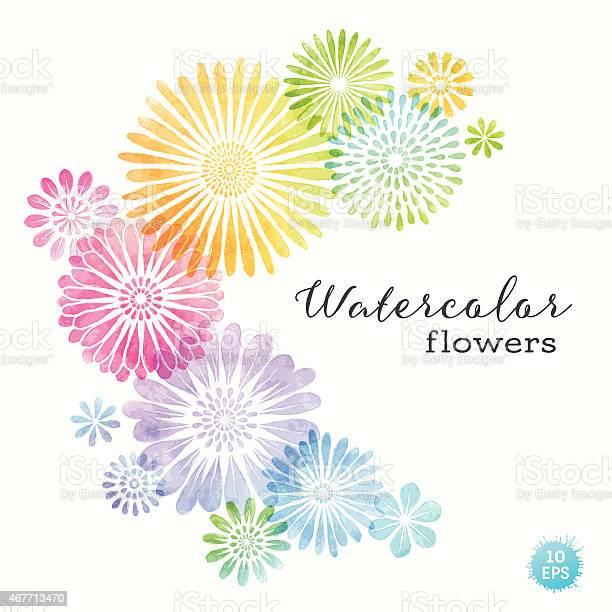 Colorful watercolor flowers vector id467713470?b=1&k=6&m=467713470&s=612x612&h=ygoesiaa9zr1fz9 3t 2tbmmnrkgxawjrkmf9wsabya=