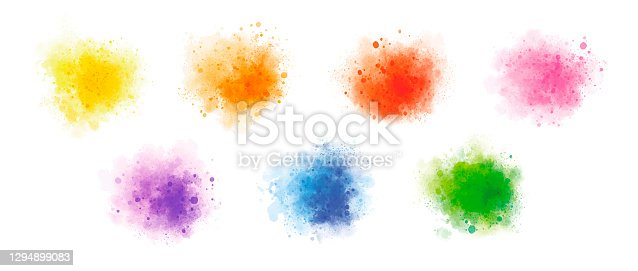 istock Colorful watercolor on white background vector illustration 1294899083