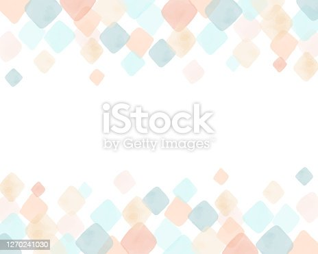 istock Colorful watercolor rhombus background & frame 1270241030