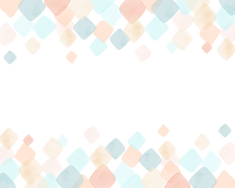 Colorful watercolor rhombus background & frame