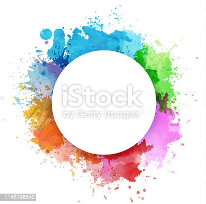istock Colorful watercolor splashes 1145298540