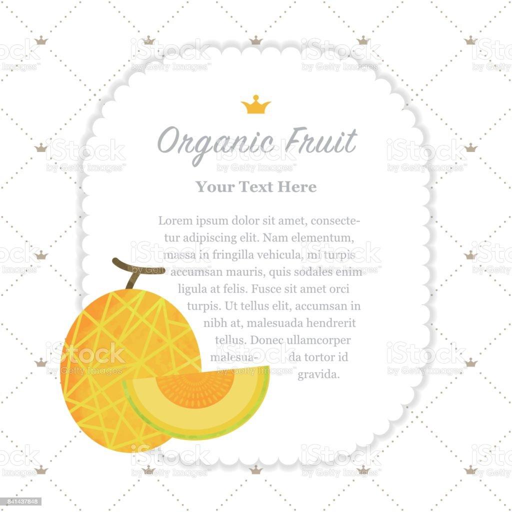 Renkli Sulu Boya Doku Doğa Organik Meyve Faturası çerçeve Kavun