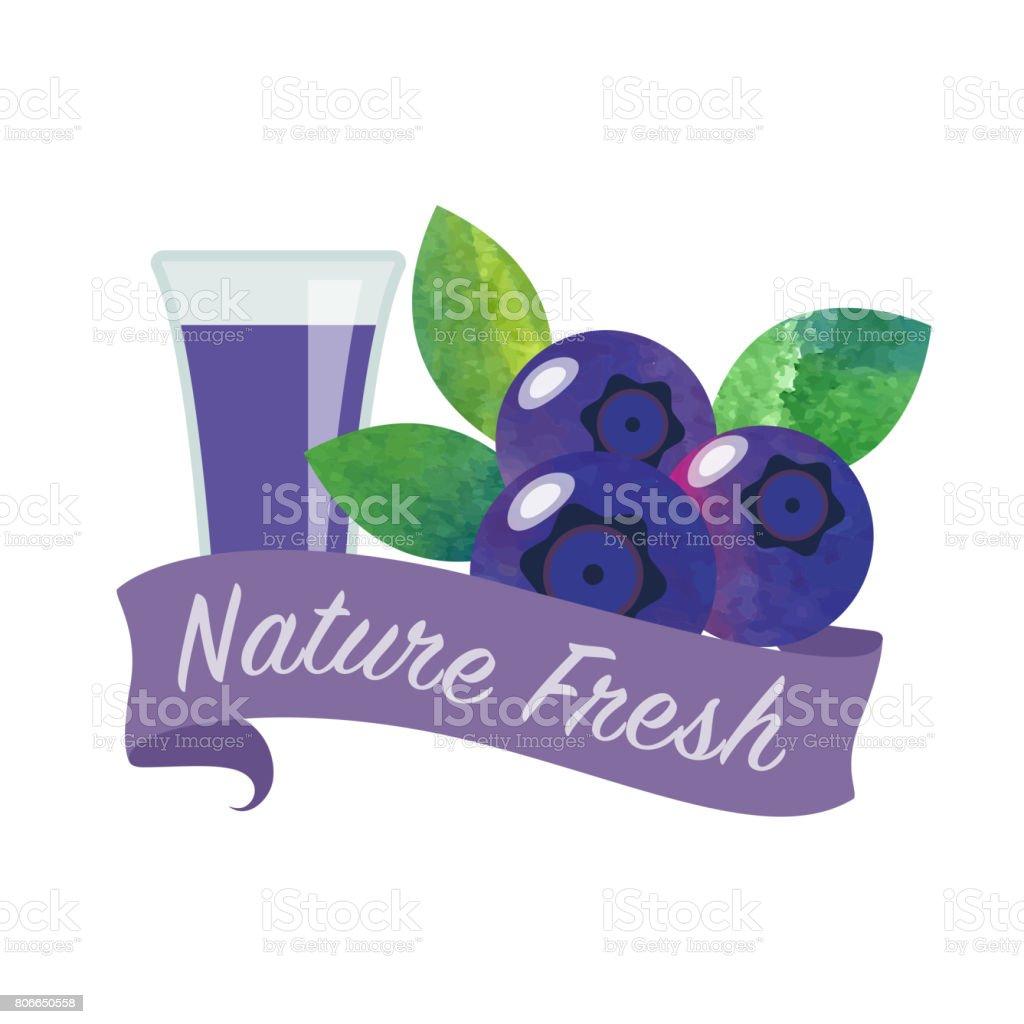 Renkli Sulu Boya Doku Vektör Doğa Organik Taze Meyve Suyu Afiş Yaban