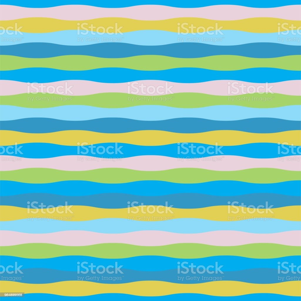 Colorful wave seamless pattern for summer theme - Royalty-free Abstract stock vector