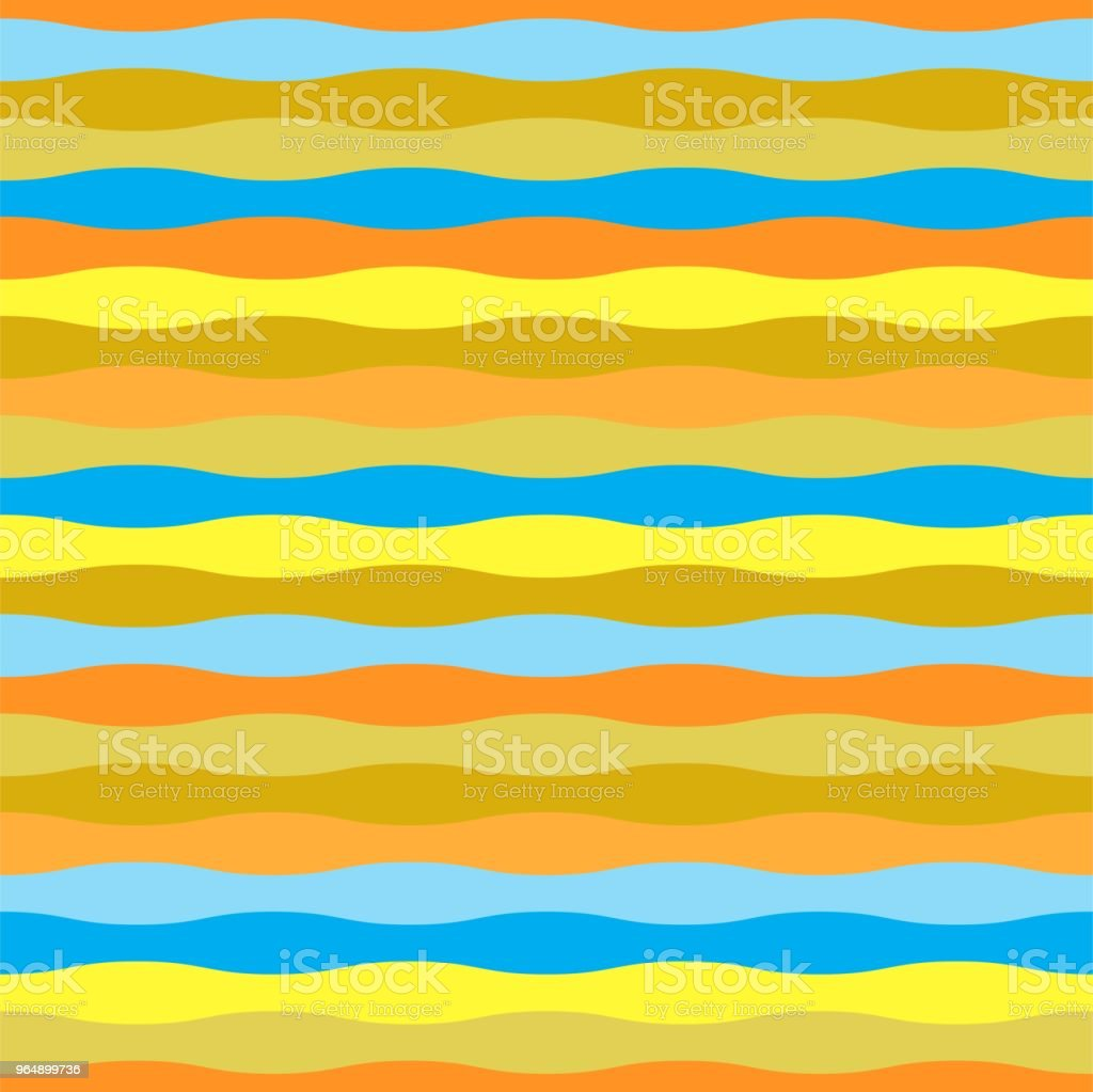 Colorful wave seamless pattern for summer theme royalty-free colorful wave seamless pattern for summer theme stock illustration - download image now
