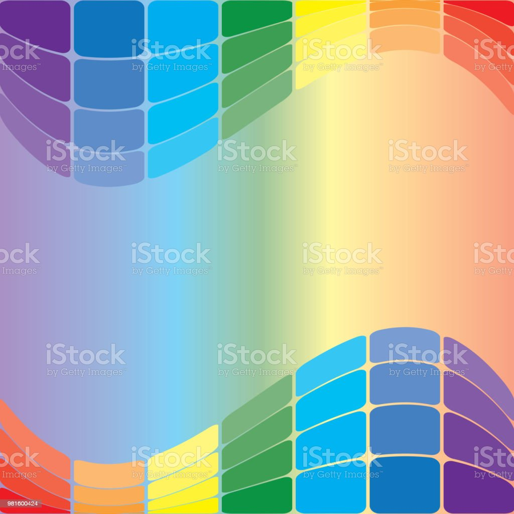 colorful wavy background - vector vector art illustration