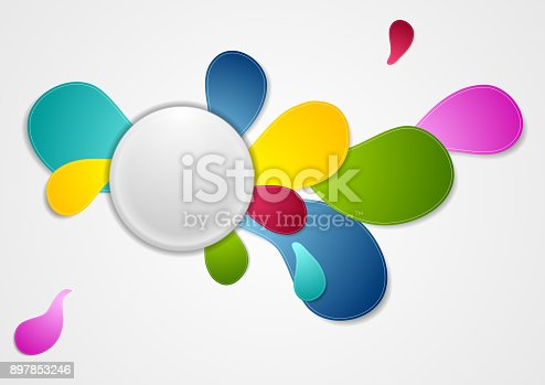 901409540istockphoto Colorful wavy drop shapes vector background 897853246
