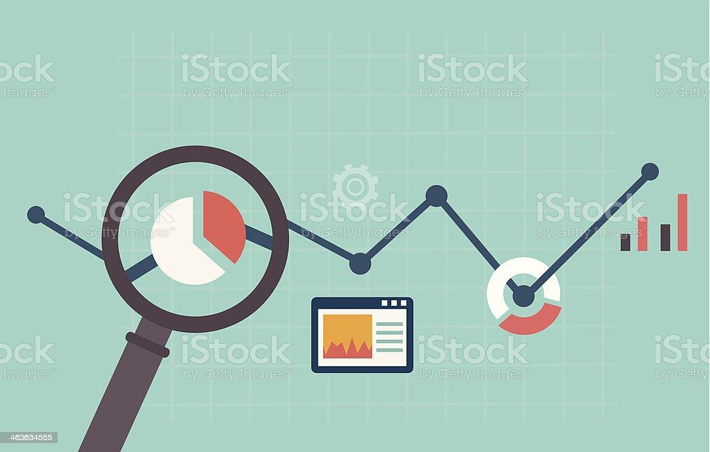 illustration colorée d'analyse web - Illustration vectorielle