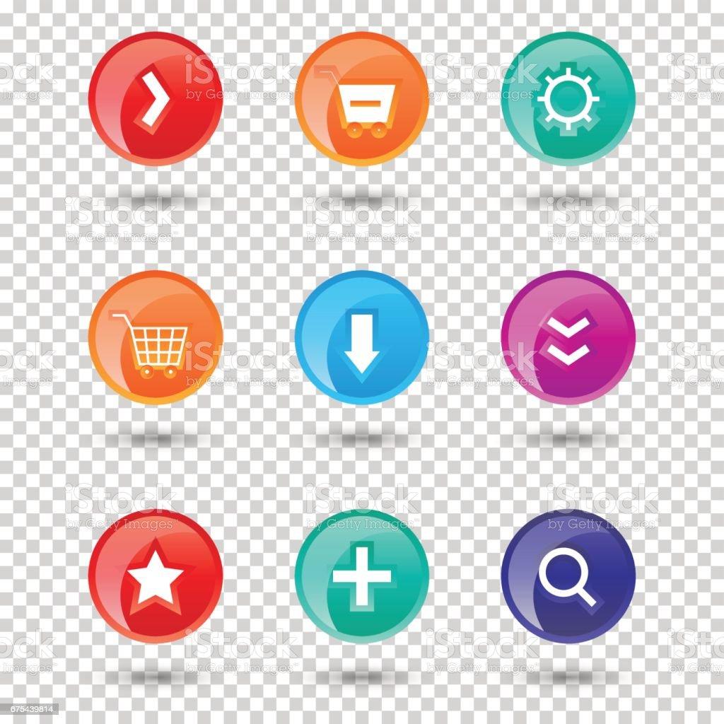 Site Internet coloré boutons design vector illustration brillant étiquette graphique internet modèle bannière site internet coloré boutons design vector illustration brillant étiquette graphique internet modèle bannière – cliparts vectoriels et plus d'images de arts culture et spectacles libre de droits